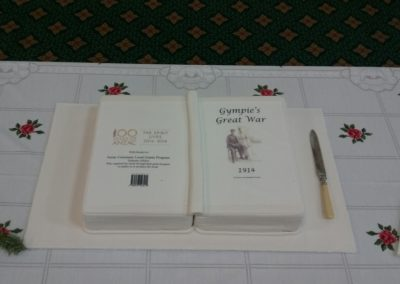 Official book launch cake
